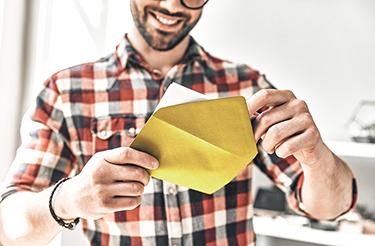 Man wordt blij van post
